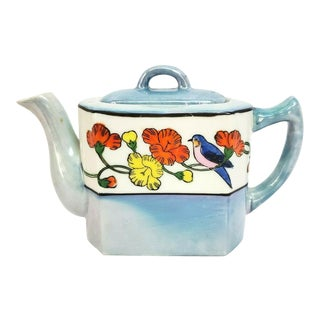 Lusterware Miniature Blue Birds Teapot For Sale
