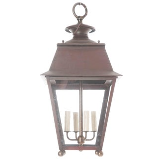 Early 20th Century French 20th Century Copper and Brass Lantern For Sale