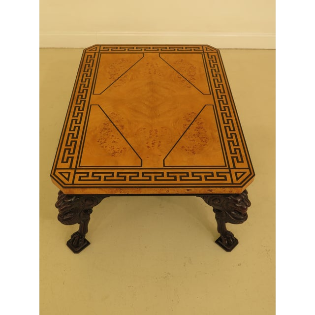 English Traditional Baker Stately Homes Russian Empire Lion Head Coffee Table For Sale - Image 3 of 13
