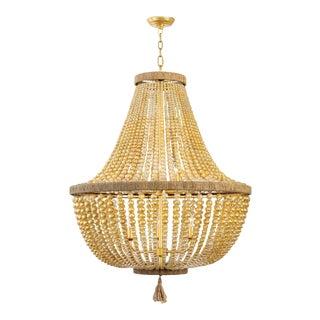 Regina Andrew Modern Gold Dior Bead Chandelier For Sale