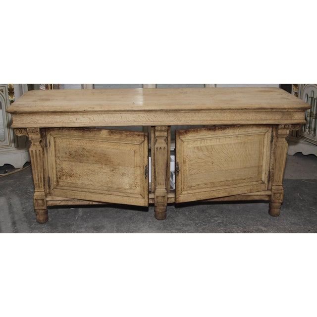 Exquisite carved wood casegood, once used as counter in a drapier's (clothier's) shop. France, mid 19th century. Two...