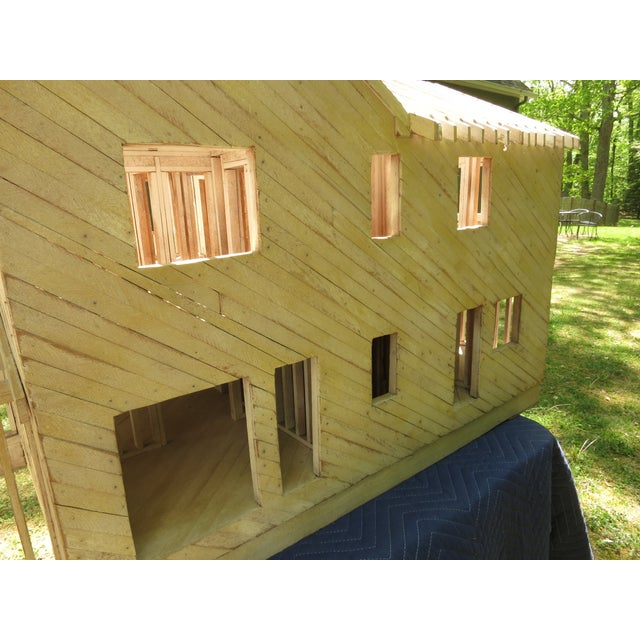 Wood Vintage Architectural Model Wood House For Sale - Image 7 of 11