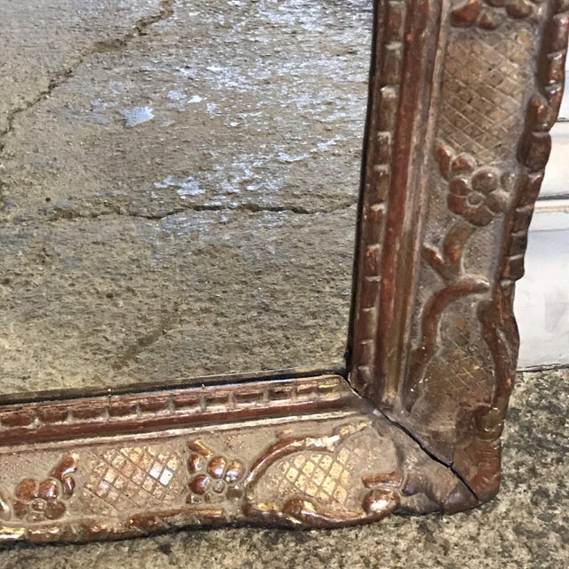 Mid 19th Century 19th Century Giltwood Mirror For Sale - Image 5 of 11