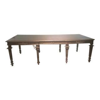 Traditional Maitland Smith Mahogany 8 Legged Dining Table For Sale