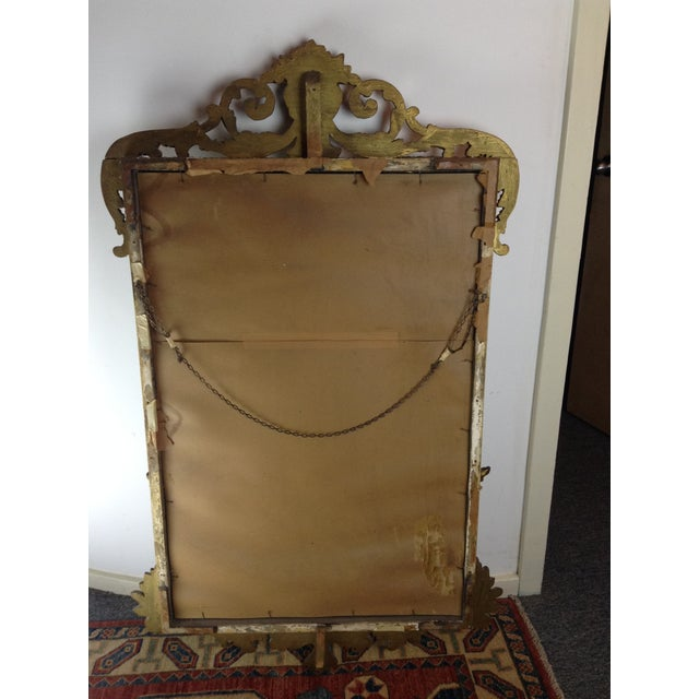 Antique Gilded Ornate Wall Mirror - Image 7 of 9