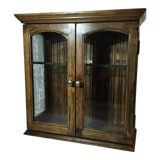 Small Wall Mounted Curio Cabinet For Sale