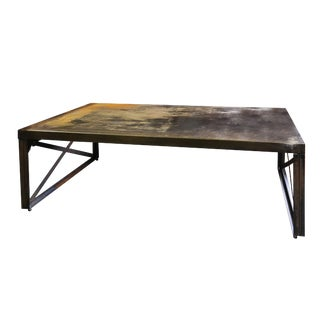 Rustic Long Metal Table For Sale
