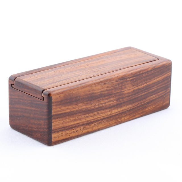Contemporary 1980's VINTAGE JERRY MADRIGALE WOODEN BOX For Sale - Image 3 of 10