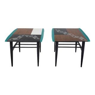 1960s Bassett Mid-Century Modern Walnut Side Tables - a Pair For Sale