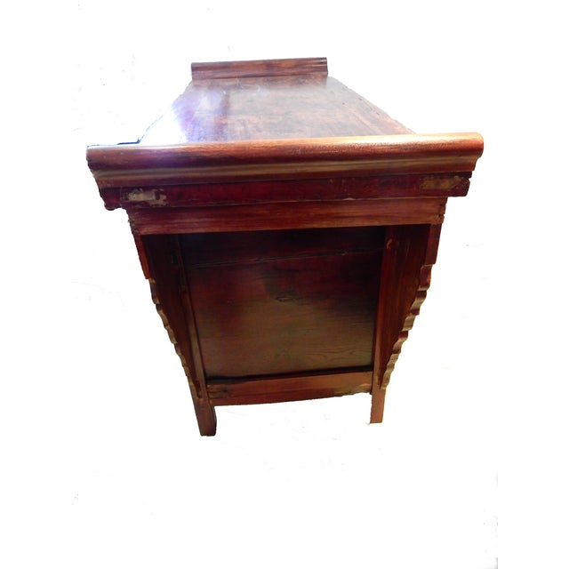 Metal Cantonese Altar Table Bat Fu Chest. For Sale - Image 7 of 9