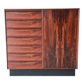 Westnofa Norwegian Rosewood Gentleman's Chest