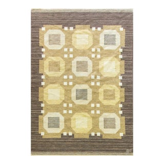 "20th Century Swedish Flat-Weave Rug by Agda Osterberg-5'8"" X 8'1"" For Sale"