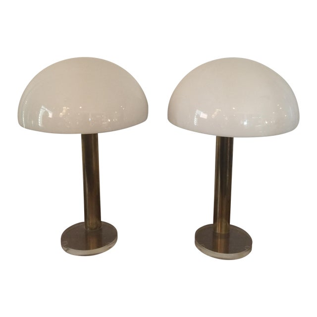 1980s Gage Cauchois Lucite Lamps - A Pair For Sale