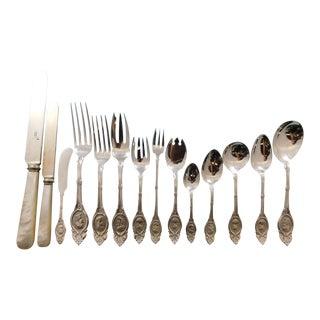 Medallion by Shiebler Sterling Silver Flatware Dinner Service Set - 181 Pieces For Sale