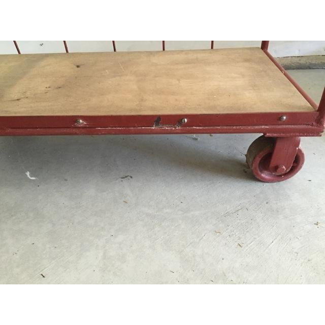 Red Industrial Cart on Wheels - Image 6 of 6