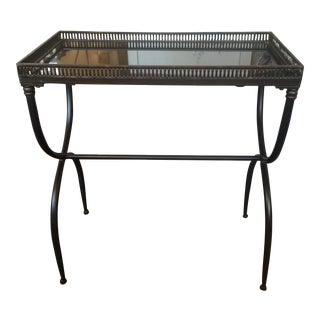 Black Granite Accent Table For Sale
