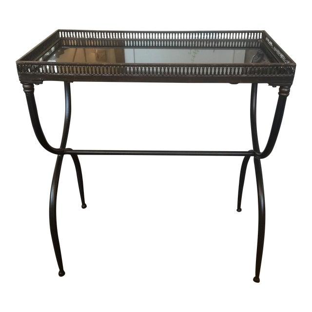 Black Granite Accent Table For Sale
