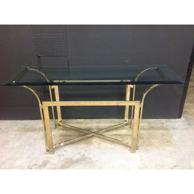 DIA Style Brass Console Table - Image 3 of 7