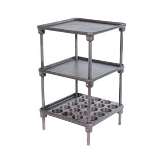 """Cast Iron """"Muffin"""" Side Table For Sale"""