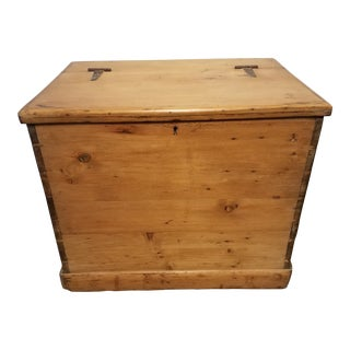 Late 19th Century Antique Pine Storage Box For Sale