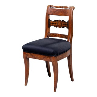 19th Century Biedermeier Side Chair With Figural Details For Sale