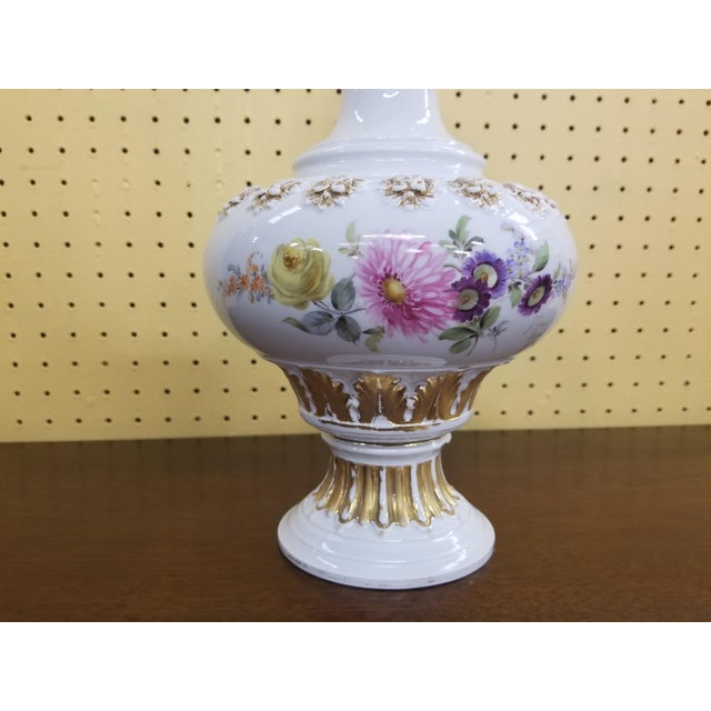 White Meissen Porcelain Covered Bottle Vase For Sale - Image 8 of 13