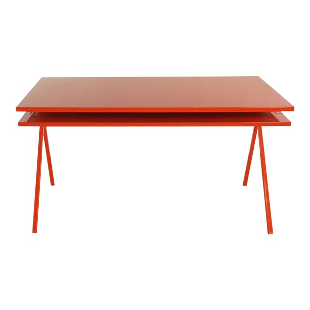 Contemporary Blu Dot Red Computer Desk For Sale