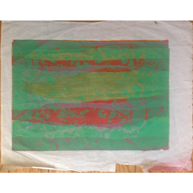 Mid Century Abstract Silkscreen Bay Area Female Artist For Sale In New York - Image 6 of 8