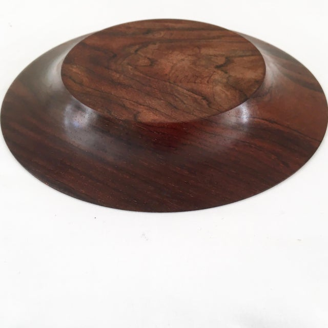 Hand Carved Cocobolo Wood Bowl For Sale - Image 9 of 11