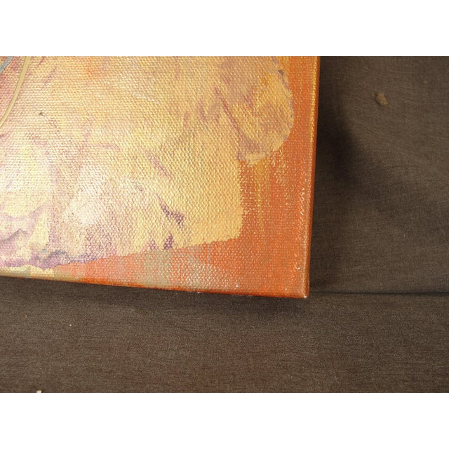 Metallic Colored Abstract Acrylic Painting - Image 3 of 5