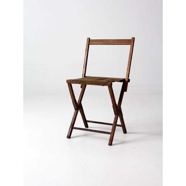Vintage American Folding Camp Chair - Image 3 of 7