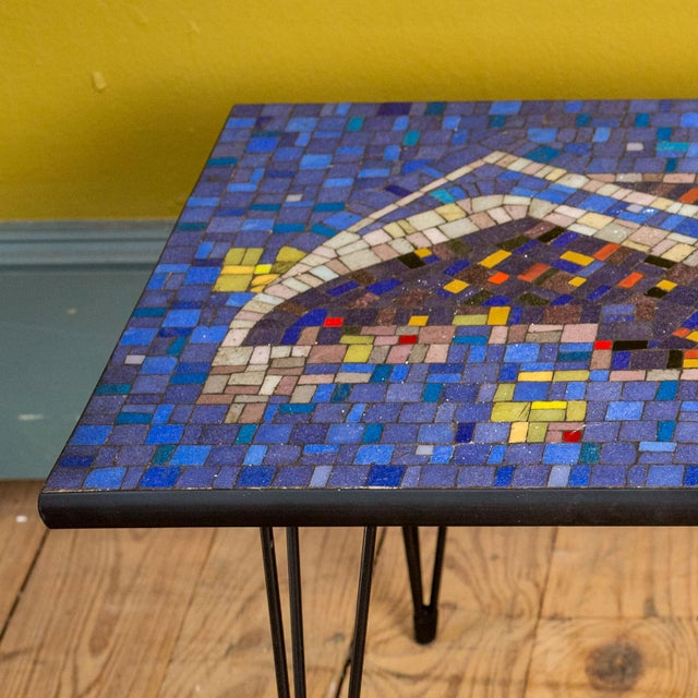 Mid-Century Modern Mosaic Cocktail or Coffee Table For Sale - Image 3 of 6