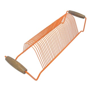 Orange Wire Metal Organizer For Sale