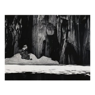 "Framed Ansel Adams ""Frozen Lakes and Cliffs"" Photography Print"