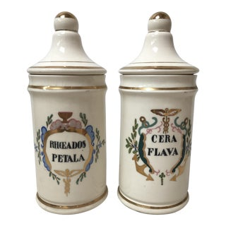 Antique Apothecary Jars - A Pair