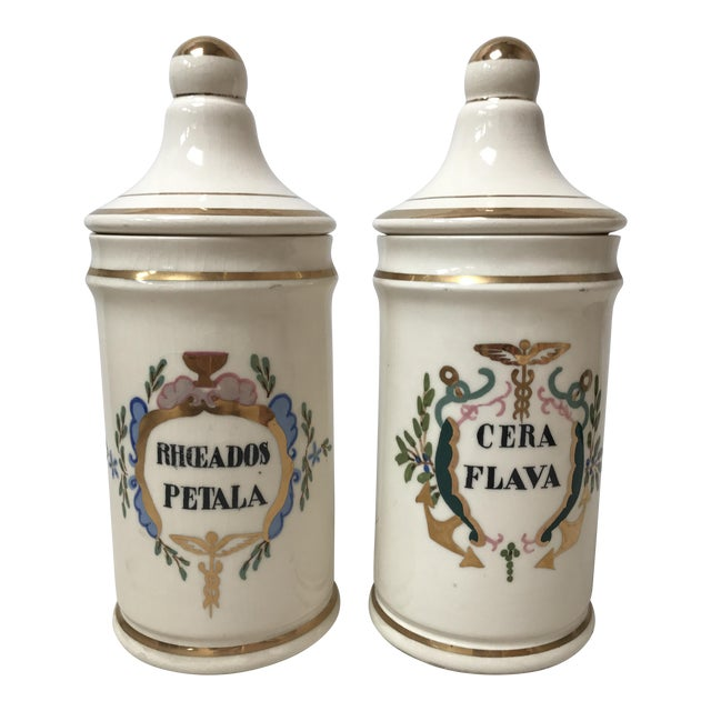 Antique Apothecary Jars - A Pair For Sale