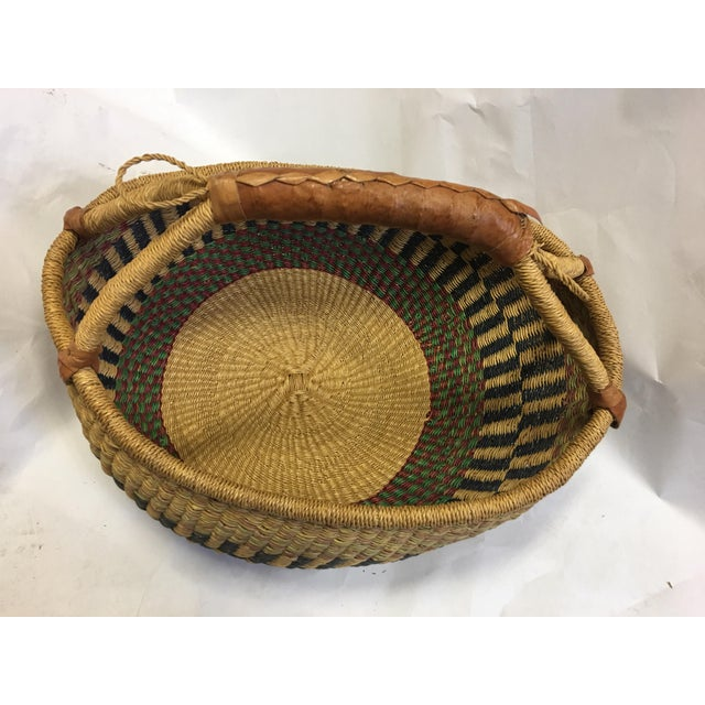 Oval Hand Woven Natural Grass Basket - Image 5 of 8
