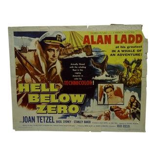 """Vintage Movie Poster """"Hell Below Zero"""" Alan Ladd & Joan Tetzel 1954 For Sale"""
