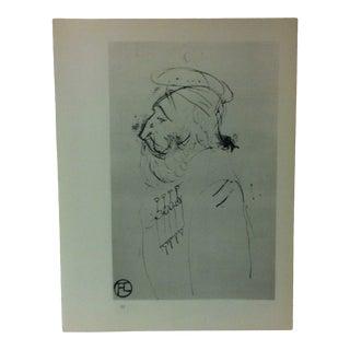 "Circa 1980 ""Count Alphonse De Toulouse-Lautrec the Artist's Father 1899"" Print of a Toulouse-Lautrec Drawing For Sale"