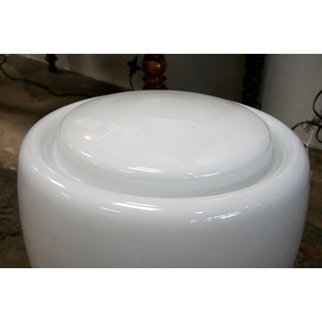 Claudio Salocchi Milk Glass Table Lamp For Sale In Los Angeles - Image 6 of 8