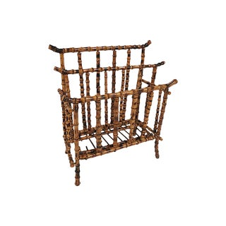 Chinoiserie Tortoise Shell Magazine Rack For Sale