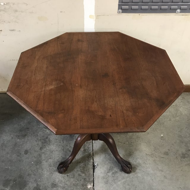 Massachusetts Furniture antique clawfoot octagonal table, 1870-1930.  Beautiful shape and attention to - Massachusetts Furniture Antique Clawfoot Octagonal Table Chairish