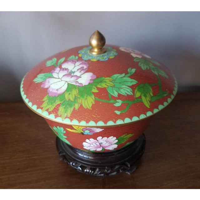 Chinese Cloisonne Bowl on Stand - Image 2 of 11