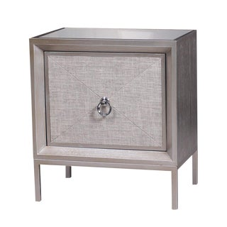 Cassidy Mirrored Top Nightstand Cabinet For Sale