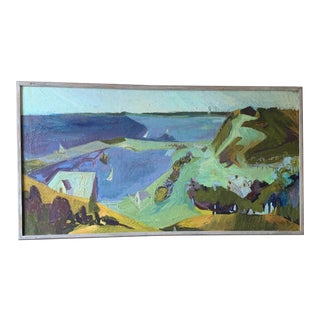 Original Abstract Seascape Mid Century Painting For Sale