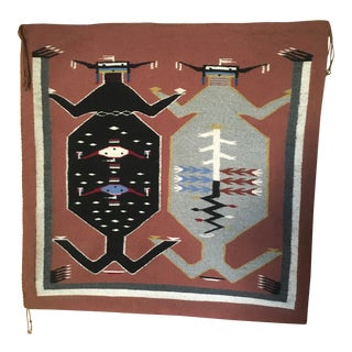 Navajo Mother Earth Father Sky Rug- 3′2″ × 3′2″ For Sale
