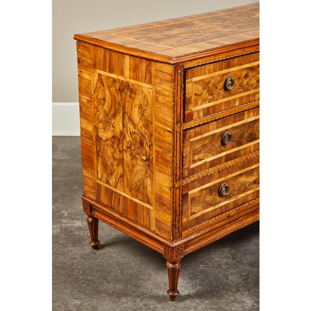 Italian 19th C. Italian Inlaid Chest of Drawers For Sale - Image 3 of 9