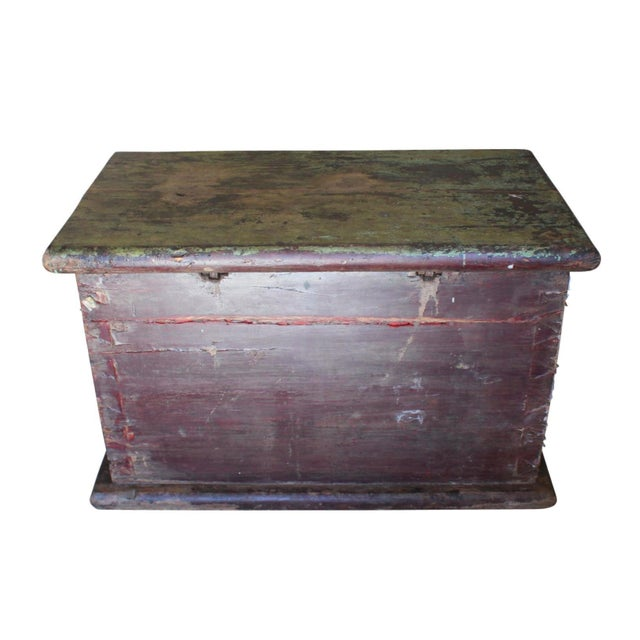 Cast Iron Huge 1650s Asian Trunk, Wood & Iron, Handmade Craftsmanship For Sale - Image 7 of 10