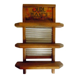 Vintage Washboard and Shelving from Columbus, Ohio