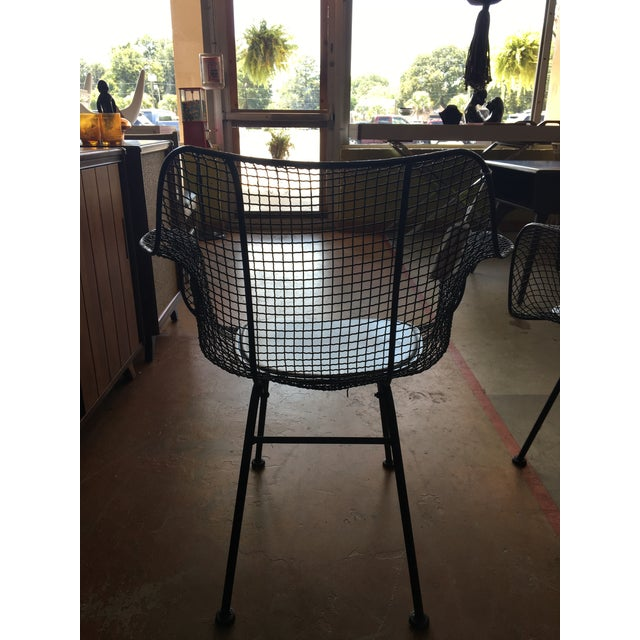 Metal Vintage Mid-Century Biscayne Wire Armchairs - A Pair For Sale - Image 7 of 11